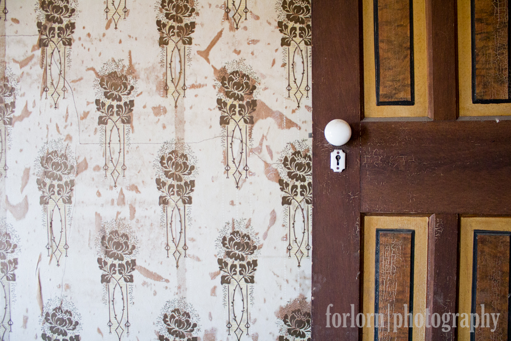 Wallpaper and Door