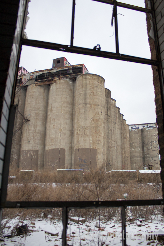 Silos Through the Window