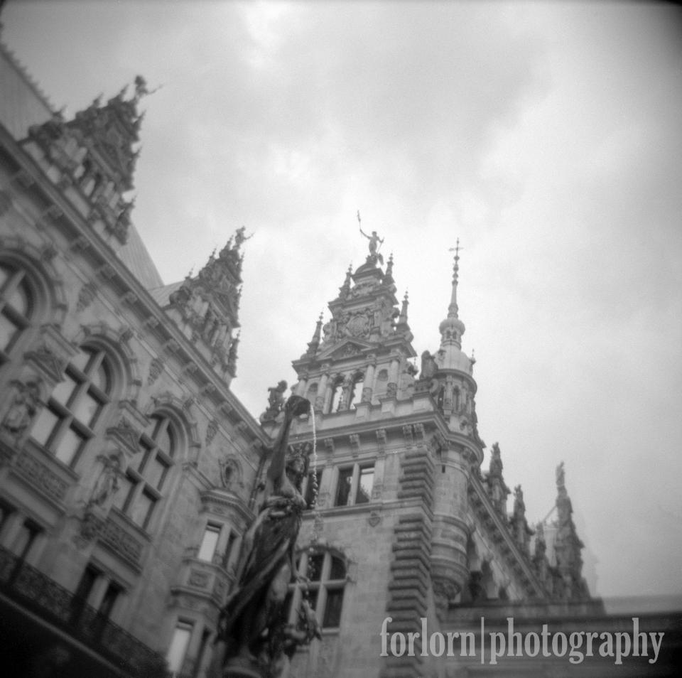 Another Holga shot of city hall.  Camera: Holga 120N Film: Kodak Tri-X